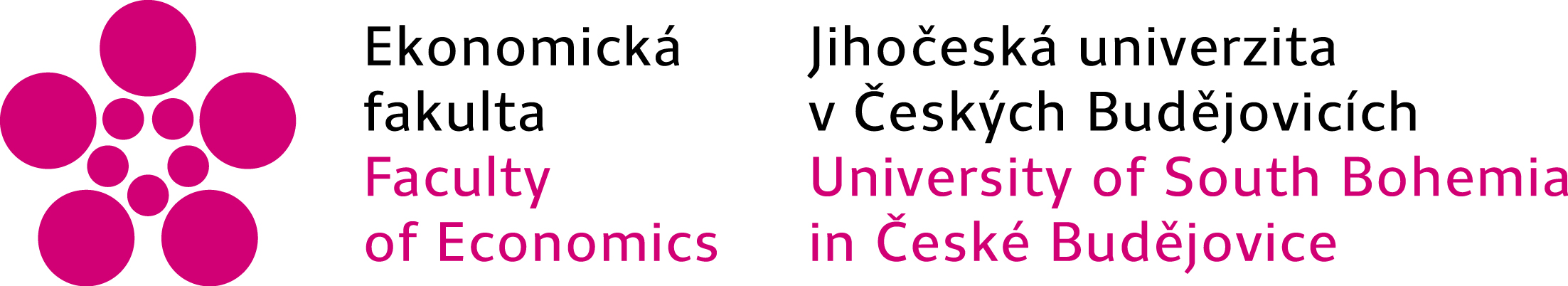 Logo Ekonomické fakulty Jihočeské univerzity v Českých Budějovicích